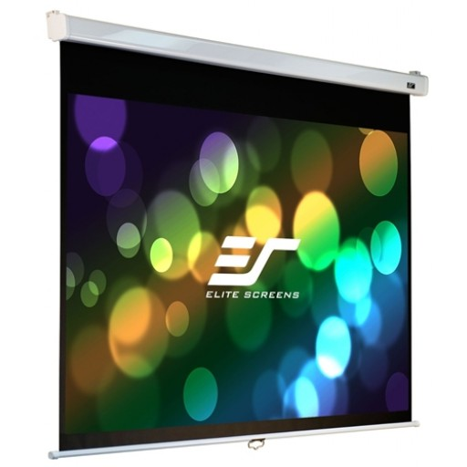 Elite M85XWS1-WHITE Manual Pull Down Projection SCreen