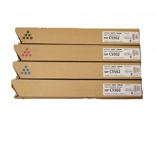 Ricoh 841755, 841756, 841757, 841758, Toner Cartridge Value Pack, MP C4502, MP C5502- Original