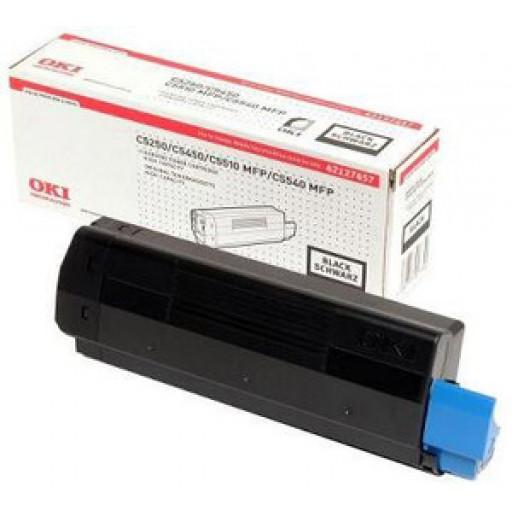 Oki 42127457 Toner Cartridge HC Black, C5250, C5450, C5510, C5540, Type C6 - Genuine