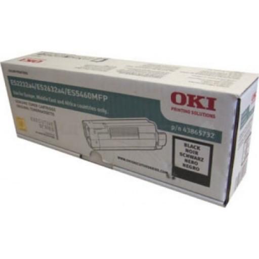 OKI 43865732, Toner Cartridge Black, Es2032, ES2232, ES2632, ES5460- Original