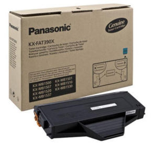 Panasonic KX-FAT390 Toner Cartridge, KX-MB1500CX, KX-MB1520CX, KX-MB1530CX - Black Genuine