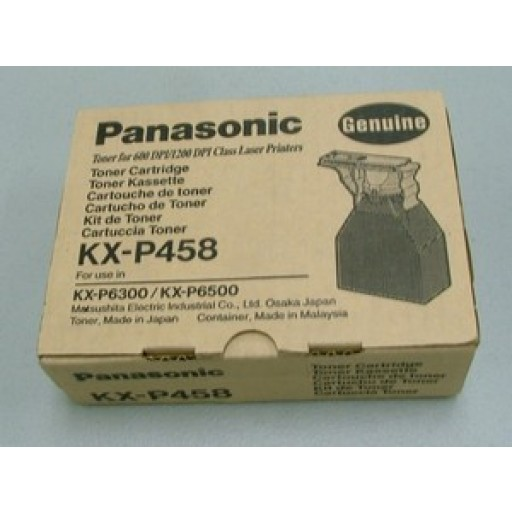 Panasonic KX-P458, Toner Cartridge Kit, KX-P6500, KX-P6300 - Black Genuine