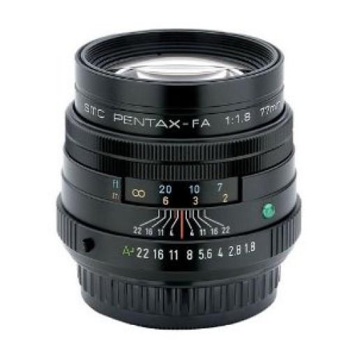 Pentax Imaging 77mm f/1.8 Limited, Black Lens