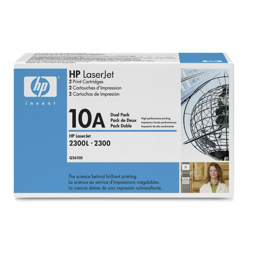HP 2300 Toner Cartridge - Black Multipack Genuine (Q2610D)