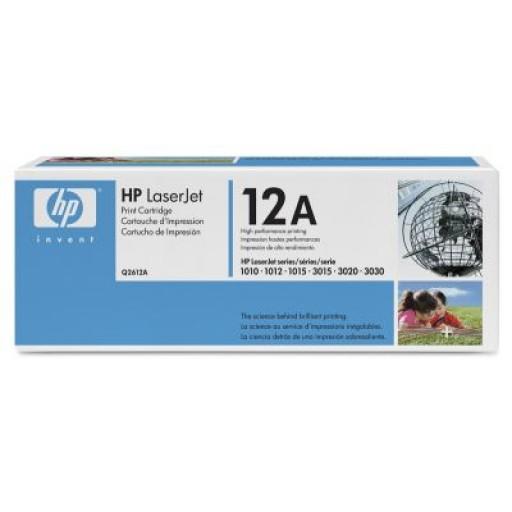 HP 12A 1010, 1012, 1015, 1018, 1020, 1022, 3015, 3020, 3030, 3050, 3052, 3055, M1005 Toner Cartridge - Black Genuine (Q2612A)