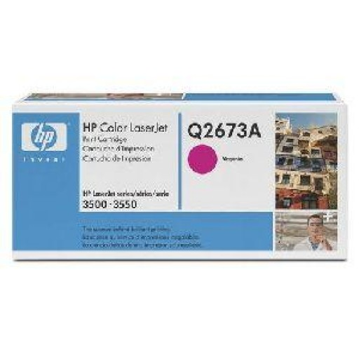 HP Q2673A, Toner Cartridge Magenta, Color LaserJet 3500, 3550, 3700- Original