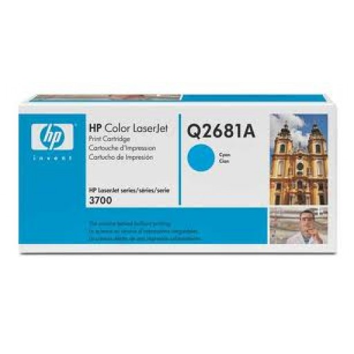 HP Q2681A, Toner Cartridge HC Cyan, 3700- Original