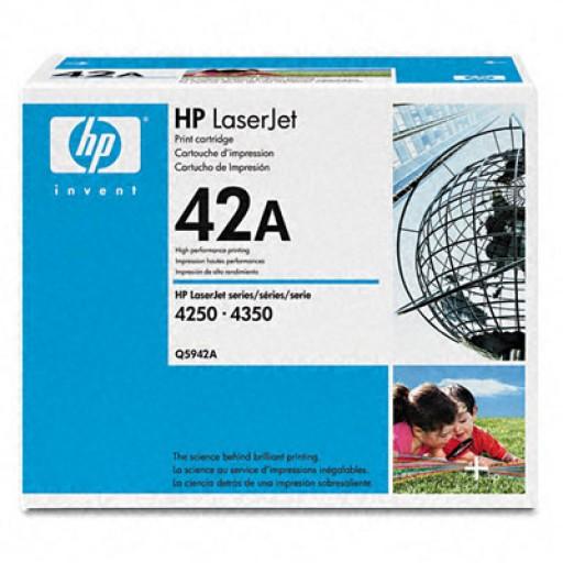 HP Q5942A, Toner Cartridge Black, 4240, 4250, 4350- Original