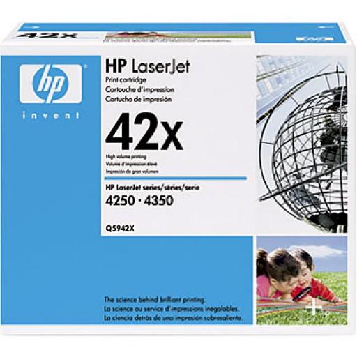 HP Q5942X, HP 4250, 4350 Toner Cartridge - HC Black,  42X - Genuine
