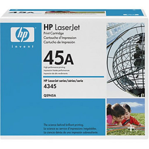 HP 4345, M4345 Toner Cartridge - Black Genuine (Q5945A)
