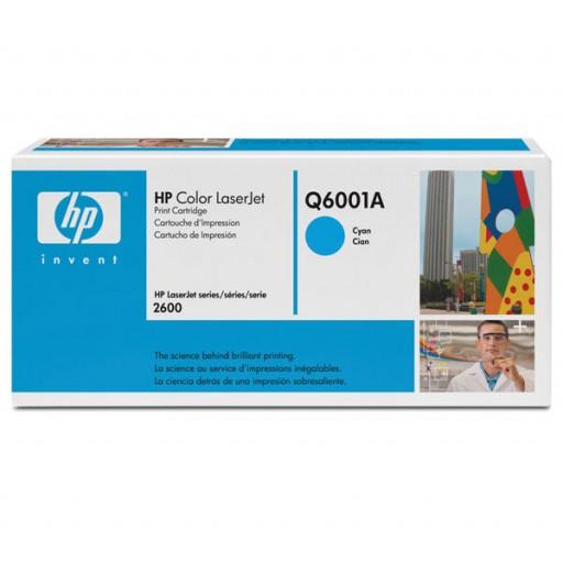 HP Q6001A, Toner Cartridge- Cyan, 1600, 2600, 2605, CM1015, CM1017- Genuine