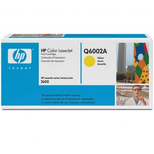 HP Q6002A, Toner Cartridge- Yellow, 1600, 2600, 2605, CM1015, CM1017- Genuine