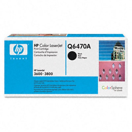 HP Q6470A, Toner Cartridge- Black, 3600, 3800, CP3505- Original