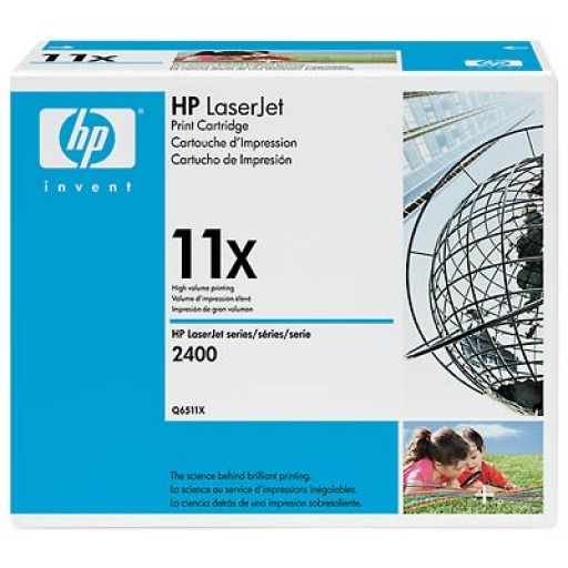 HP 2410, 2420, 2430 Toner Cartridge - HC Black Genuine (Q6511X)