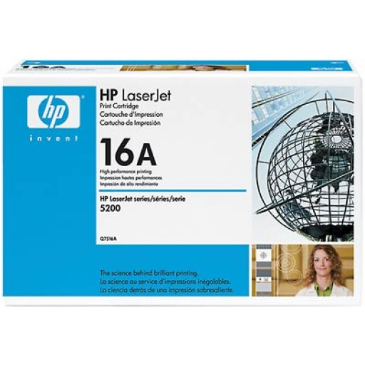 HP 5200 Toner Cartridge - Black Genuine (Q7516A)