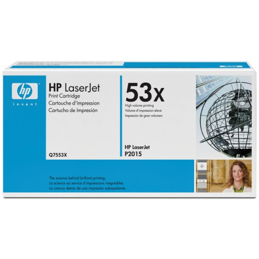 HP 53X M2727, P2014, P2015 Toner Cartridge - HC Black Genuine (Q7553X)