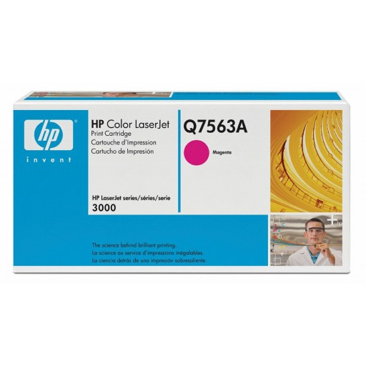 HP Q7563A, Toner Cartridge- Magenta, 2700, 3000- Original