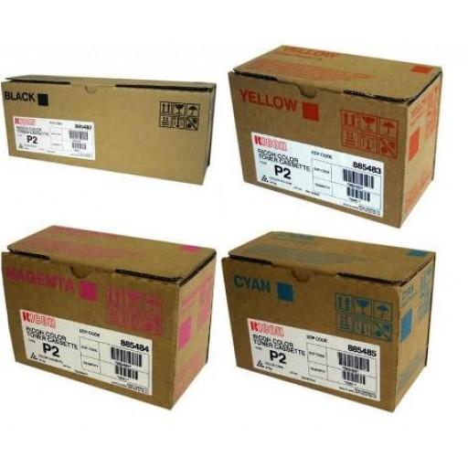 Ricoh Toner Cartridge, HC Value Pack, Type P2, 2228C, 2232C, 2238C - Genuine