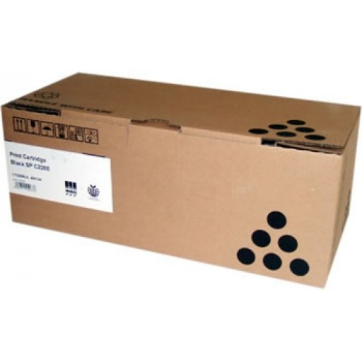 Ricoh 406144 Toner Cartridge Black, SP C220, SP C221- Genuine