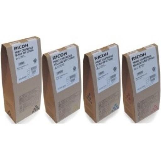 Ricoh Toner Cartridge Value Pack , B,C,M,Y,  MP C6000, MP C7500 - Genuine