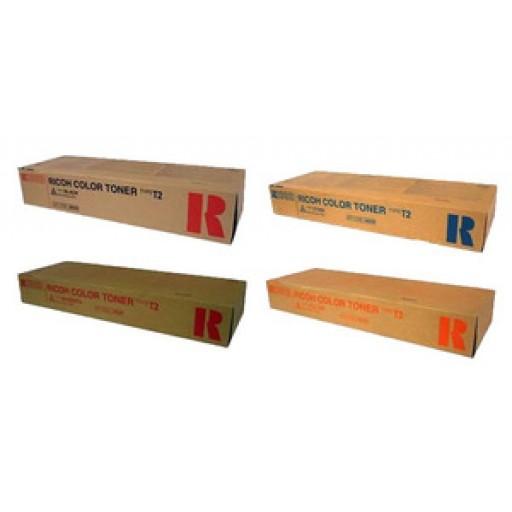 Ricoh Toner Cartridge Value Pack 4 Colour, Type T2, 3224C, 3232C - Genuine