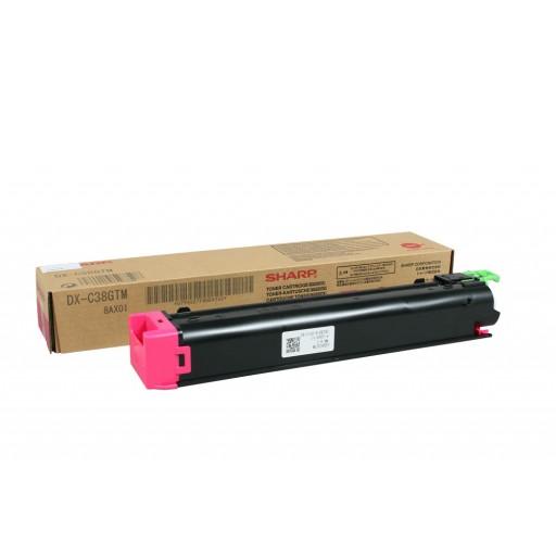 Sharp DX-C38GTM, Toner Cartridge Magenta, DX C310, C311, C380, C381, C400- Original