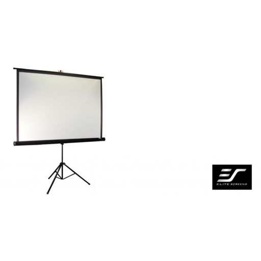 Elite T113NWS1-WHITE Tripod Pull up Projection Screen