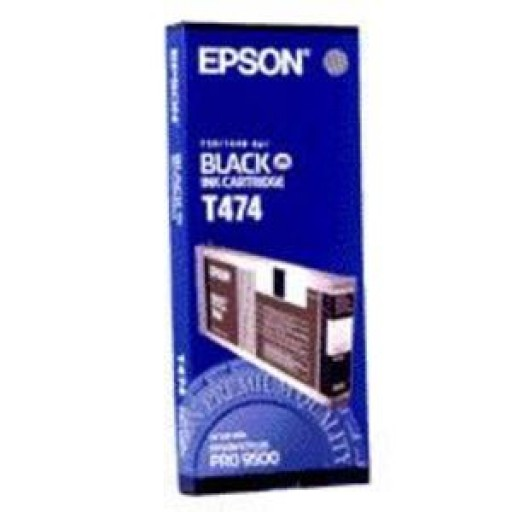Epson T474 Ink Cartridge - Black Genuine