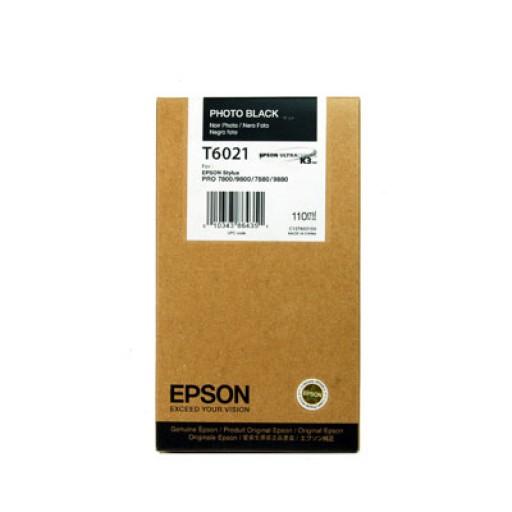 Epson T6021 Ink Cartridge - Photo Black Genuine