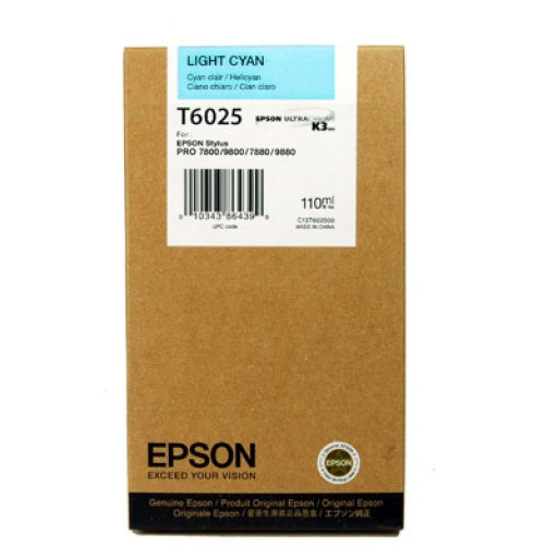 Epson T6025 Ink Cartridge - Light Cyan Genuine