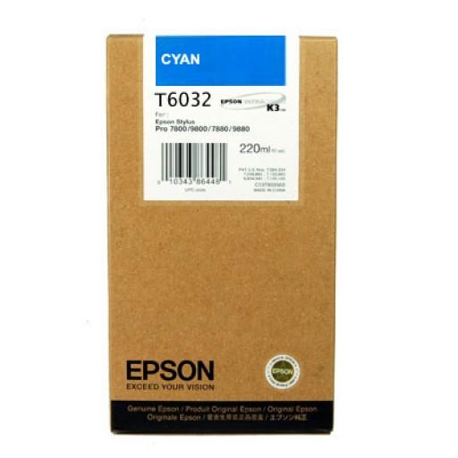 Epson T6032 Ink Cartridge - HC Cyan Genuine