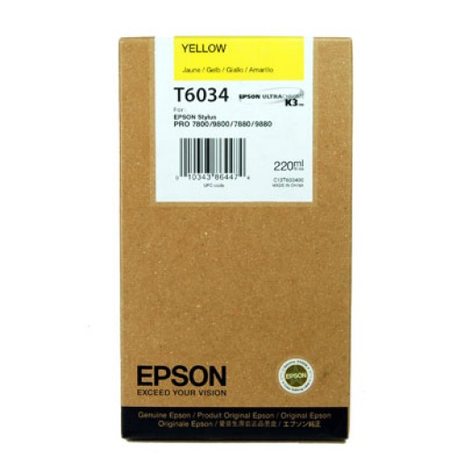 Epson T6034 Ink Cartridge - HC Yellow Genuine