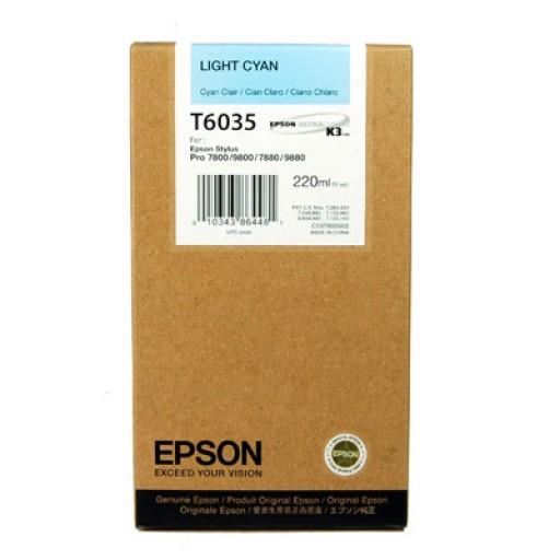 Epson T6035 Ink Cartridge - HC Light Cyan Genuine