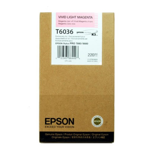 Epson T6036 Ink Cartridge - HC Vivid Light Magenta Genuine