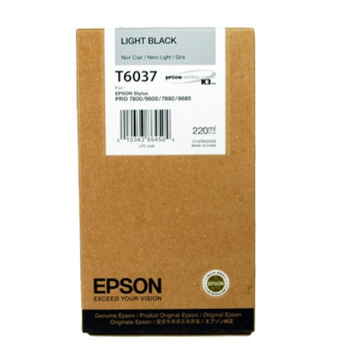Epson T6037 Ink Cartridge - HC Light Black Genuine