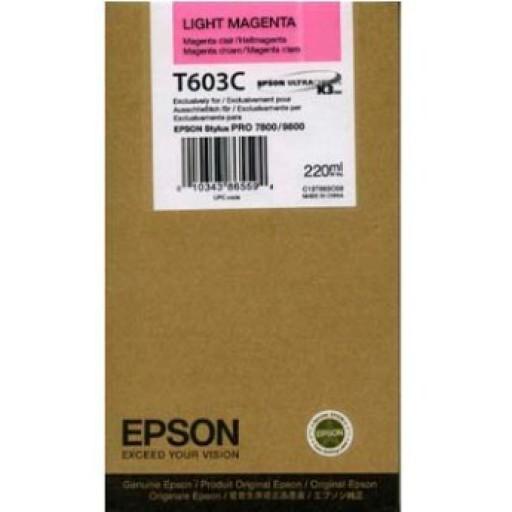 Epson T603C Ink Cartridge - HC Light Magenta Genuine