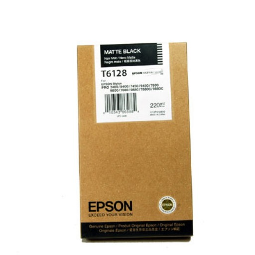 Epson T6128 Ink Cartridge - HC Matte Black Genuine