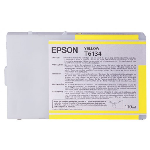 Epson T6134 Ink Cartridge - Yellow Genuine