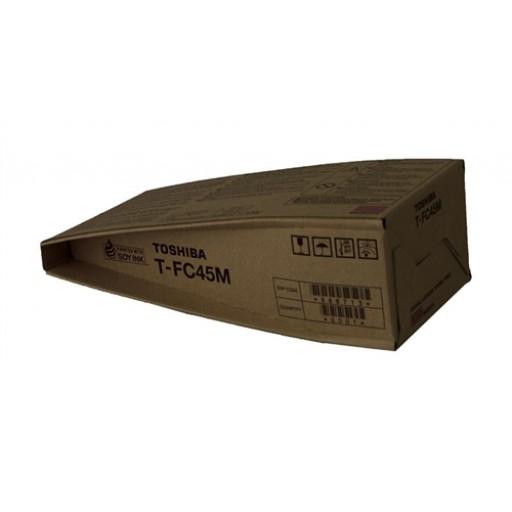 Toshiba T-FC45M Toner Cartridge, E-Studio 4500C, 5500C - Magenta Genuine
