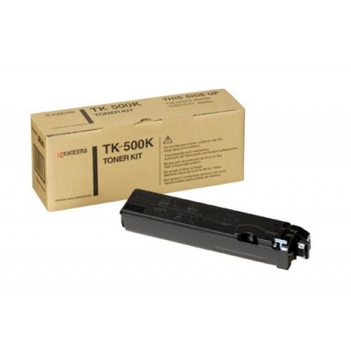 Kyocera Mita TK-500K, Toner Cartridge- Black, FS-C5016N- Genuine