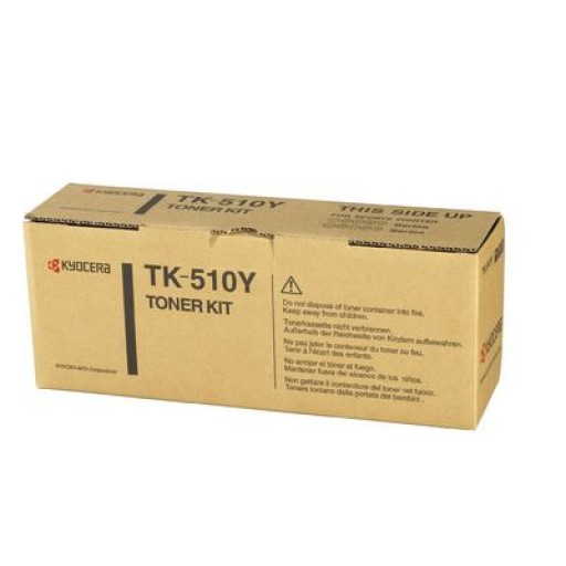 Kyocera Mita TK-510Y, Toner Cartridge- Yellow, FS 5020, 5025, C5020, C5025, C5030- Original