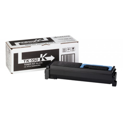 Kyocera Mita TK-550K, Toner Cartridge- Black, FS-C5200DN- Genuine