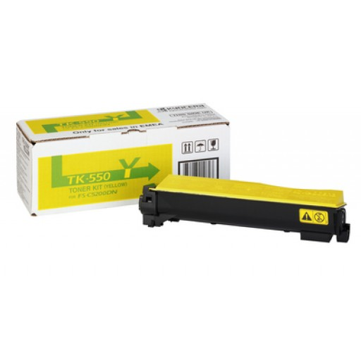 Kyocera Mita TK-550Y, Toner Cartridge- Yellow, FS-C5200DN- Genuine