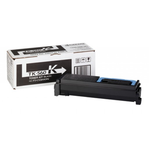 Kyocera Mita TK-560K, Toner Cartridge- Black, FS-C5300DN, C5350DN- Genuine