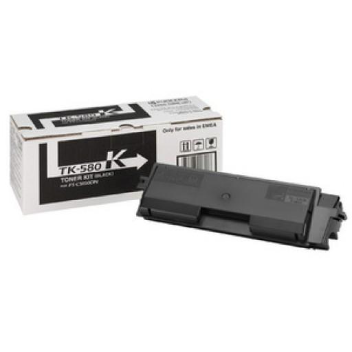 Kyocera TK580K, Toner Cartridge- Black, FSC5150, P6021cdn- Original