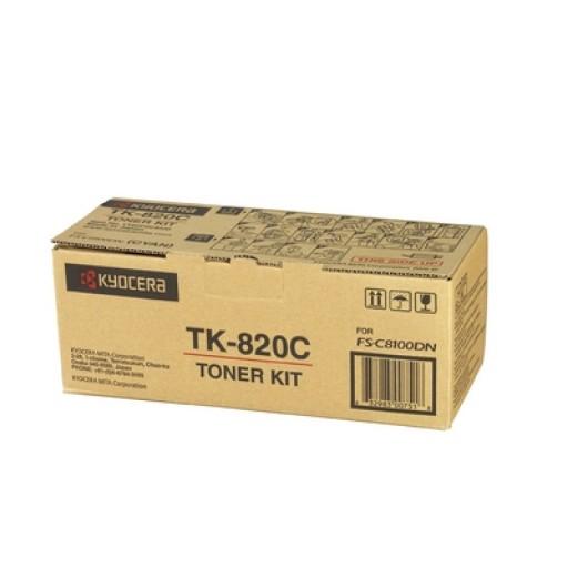 Kyocera Mita TK-820C, Toner Cartridge- Cyan, FS-C8100DN- Genuine