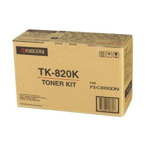 Kyocera Mita TK-820K, Toner Cartridge- Black, FS-C8100DN- Original