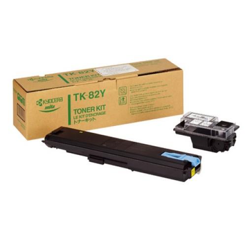 Kyocera Mita TK-82Y, Toner Cartridge Yellow, FS 8000- Original