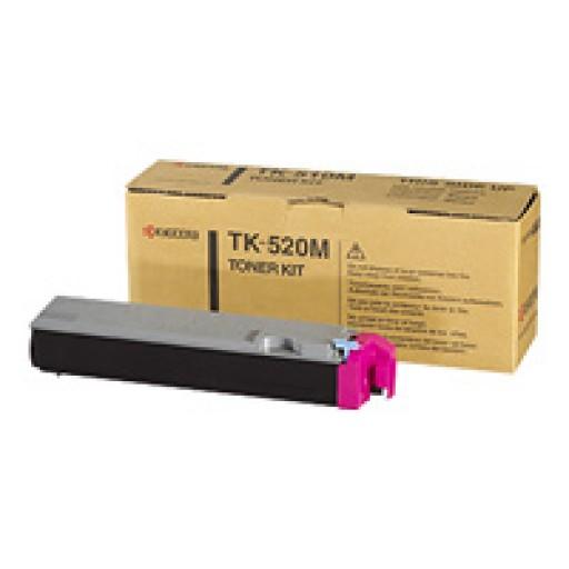 Kyocera Mita TK-520M, Toner Cartridge- Magenta, FS-C5015N- Genuine