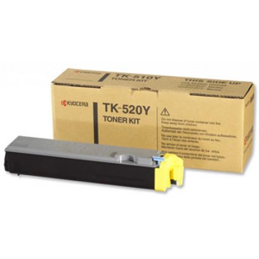 Kyocera Mita TK-520Y, Toner Cartridge- Yellow, FS-C5015N- Genuine